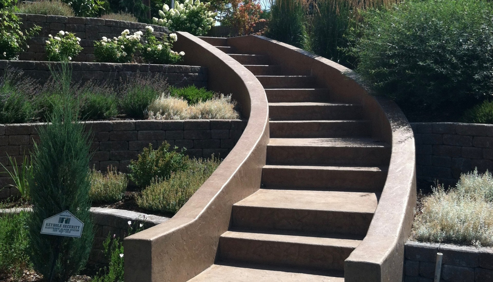 Landscaping Wenatchee Custom entry Staircase